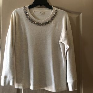 J. Crew Cream Sweatshirt - L